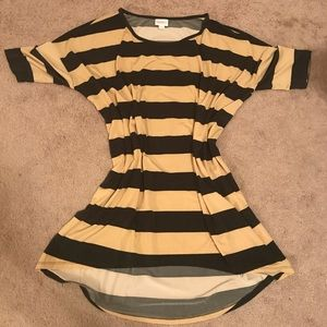 EUC Black & Tan Striped Irma
